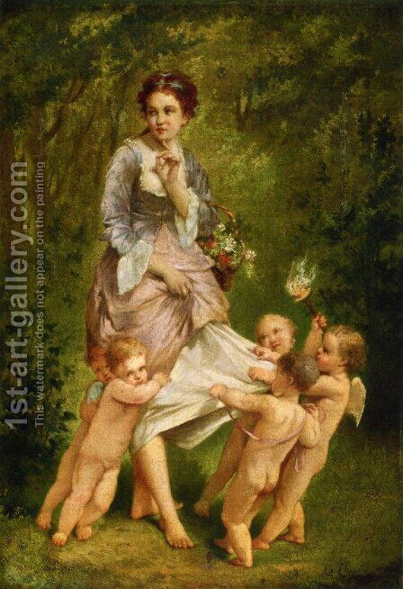 Venis with Putti by Charles Chaplin - Reproduction Oil Painting