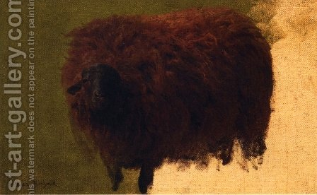 Large Wooly Sheep by Rosa Bonheur - Reproduction Oil Painting