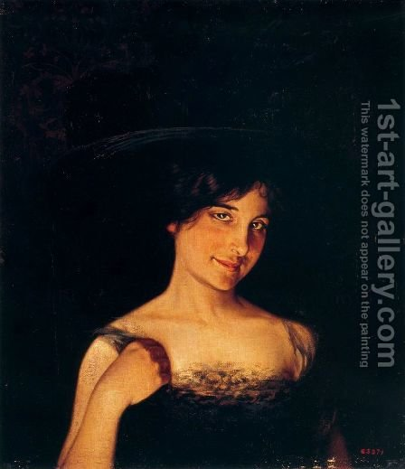 Retrato de Mujer by Alexandre de Riquer - Reproduction Oil Painting