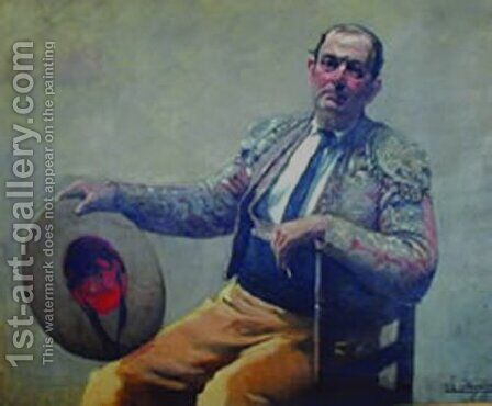 Picador Sentado by Andres (Comte) Parlade y Heredia - Reproduction Oil Painting
