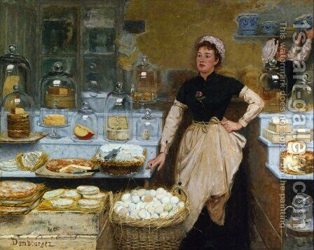 The Cheese Vendor by Edouard-Jean Dambourgez - Reproduction Oil Painting