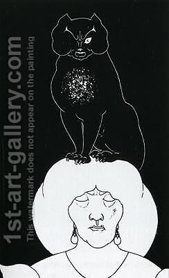 The Black Cat by Aubrey Vincent Beardsley - Reproduction Oil Painting