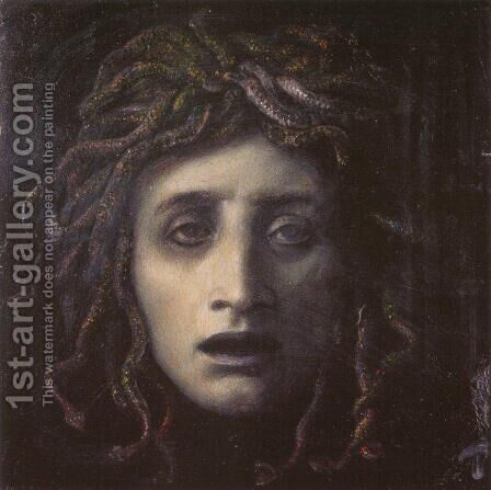 Medusa by Arnold Böcklin - Reproduction Oil Painting