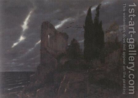 Ruins by the Sea by Arnold Böcklin - Reproduction Oil Painting