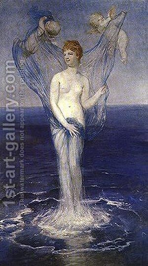 The Birth of Venus by Arnold Böcklin - Reproduction Oil Painting