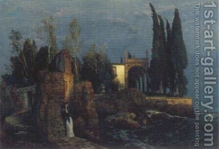 Villa by the Sea by Arnold Böcklin - Reproduction Oil Painting