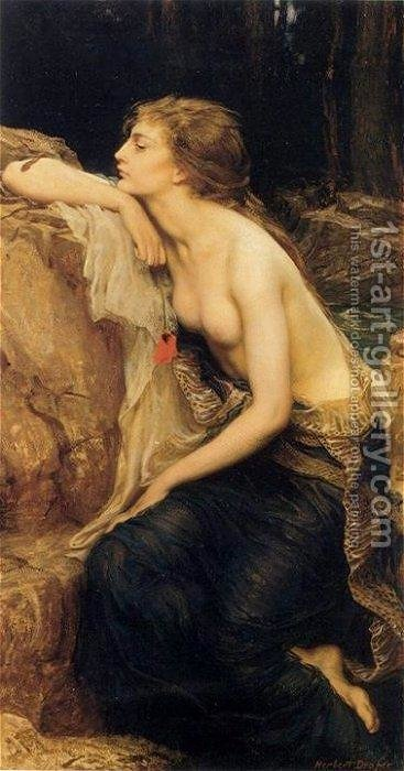 Lamia by Herbert James Draper - Reproduction Oil Painting
