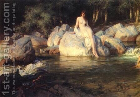 The Kelpie by Herbert James Draper - Reproduction Oil Painting