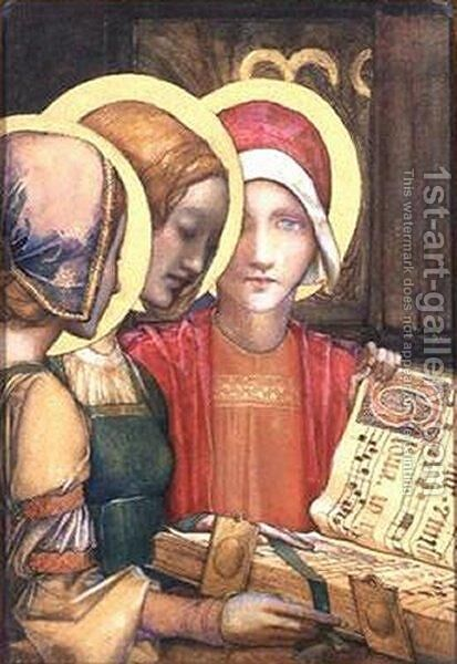 A Carol by Edward Reginald Frampton - Reproduction Oil Painting