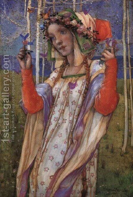 Fairyland by Edward Reginald Frampton - Reproduction Oil Painting