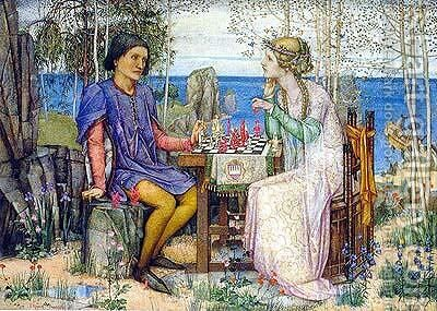 Ferdinand and Miranda, from The Tempest Act V by Edward Reginald Frampton - Reproduction Oil Painting