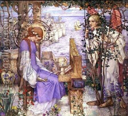St. Cecily by Edward Reginald Frampton - Reproduction Oil Painting