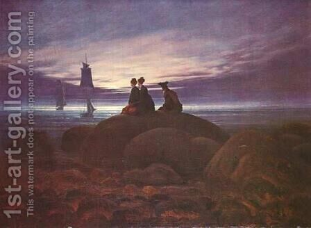The Moon Rising over the Sea by Caspar David Friedrich - Reproduction Oil Painting