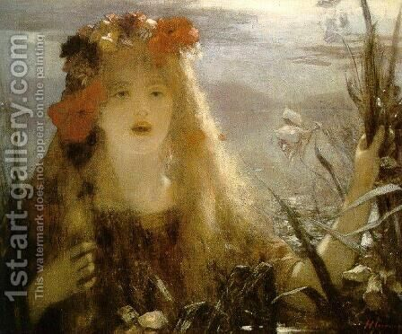 Ophelia by Henri Gervex - Reproduction Oil Painting