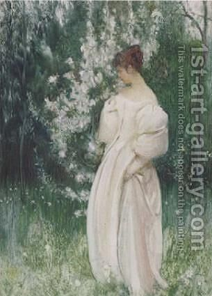 Contemplation by Arthur Hacker - Reproduction Oil Painting