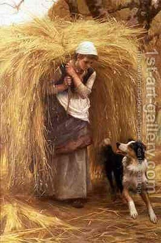 Returning from the Hayfield by Arthur Hacker - Reproduction Oil Painting