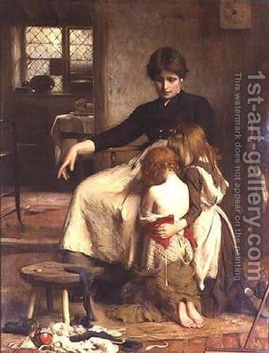 The Children's Prayer by Arthur Hacker - Reproduction Oil Painting