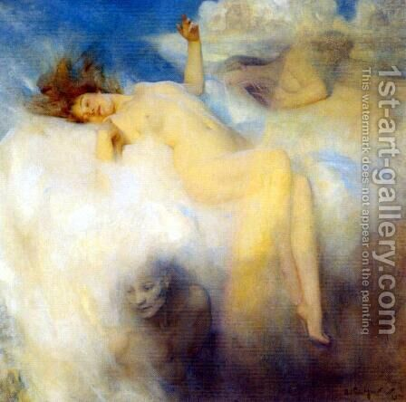 The Cloud by Arthur Hacker - Reproduction Oil Painting