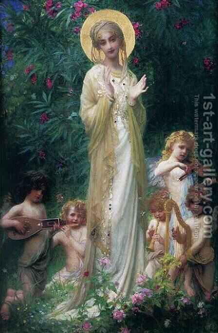 The Virgin in Paradise by Antoine Auguste Ernest Hebert - Reproduction Oil Painting