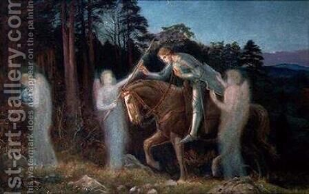 Sir Galahad I by Arthur Hughes - Reproduction Oil Painting
