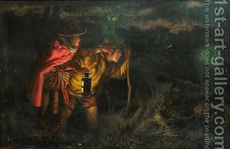 Will o' the Wisp by Arthur Hughes - Reproduction Oil Painting