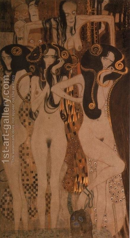 Beethoven Frieze by Gustav Klimt - Reproduction Oil Painting