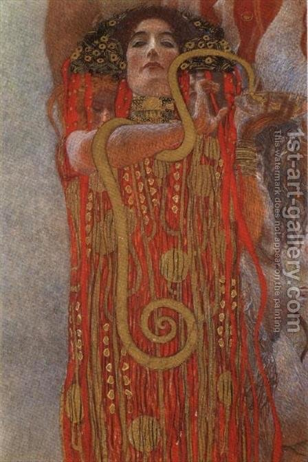 Hygieia, detail from Medicine by Gustav Klimt - Reproduction Oil Painting