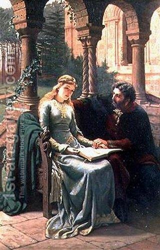 Abelard and his Pupil Heloise by Edmund Blair Blair Leighton - Reproduction Oil Painting
