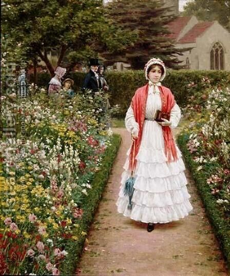 After Service by Edmund Blair Blair Leighton - Reproduction Oil Painting