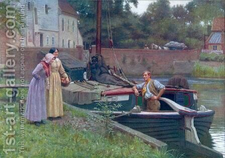 Chaff by Edmund Blair Blair Leighton - Reproduction Oil Painting
