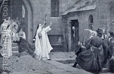 In Nomine Christi by Edmund Blair Blair Leighton - Reproduction Oil Painting