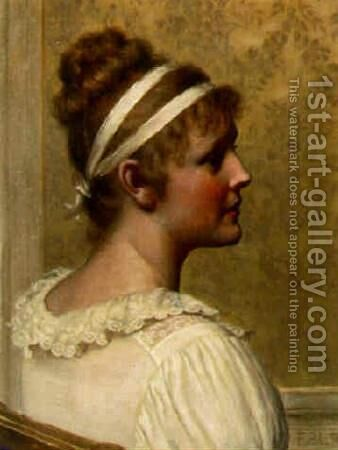 Portrait of a Lady by Edmund Blair Blair Leighton - Reproduction Oil Painting
