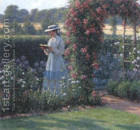 Sweet Solitude by Edmund Blair Blair Leighton - Reproduction Oil Painting