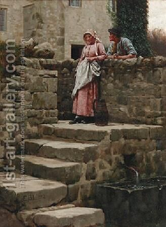 Sweethearts by Edmund Blair Blair Leighton - Reproduction Oil Painting