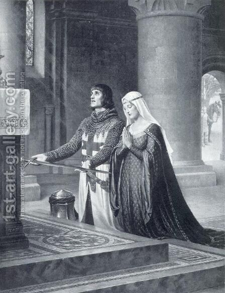 The Dedication by Edmund Blair Blair Leighton - Reproduction Oil Painting