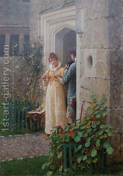 The Request by Edmund Blair Blair Leighton - Reproduction Oil Painting