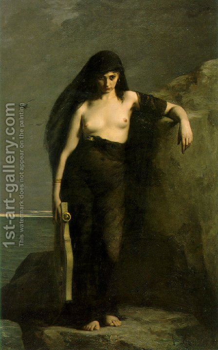 Sappho by Charles August Mengin - Reproduction Oil Painting