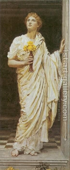 A Decorator by Albert Joseph Moore - Reproduction Oil Painting