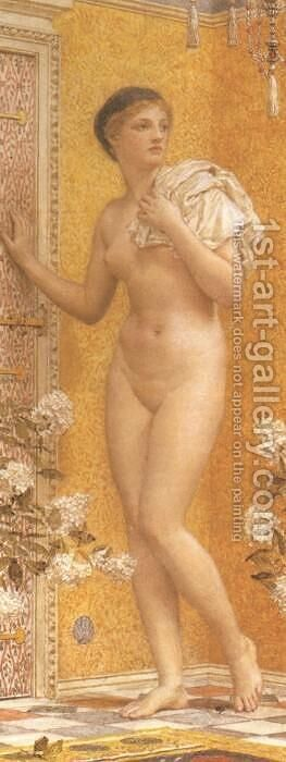A Yellow Room by Albert Joseph Moore - Reproduction Oil Painting