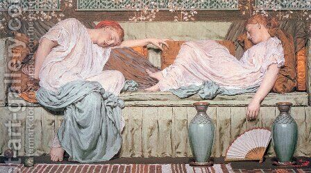 Apples by Albert Joseph Moore - Reproduction Oil Painting