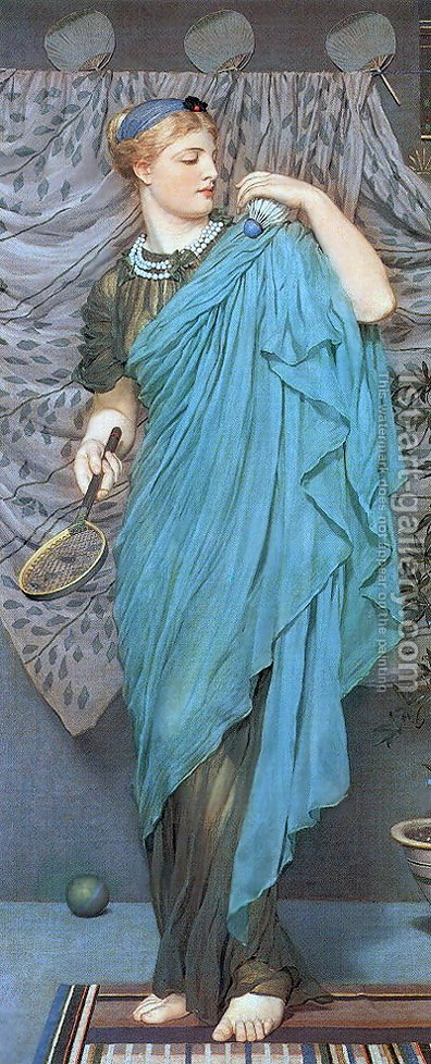 Battledore by Albert Joseph Moore - Reproduction Oil Painting