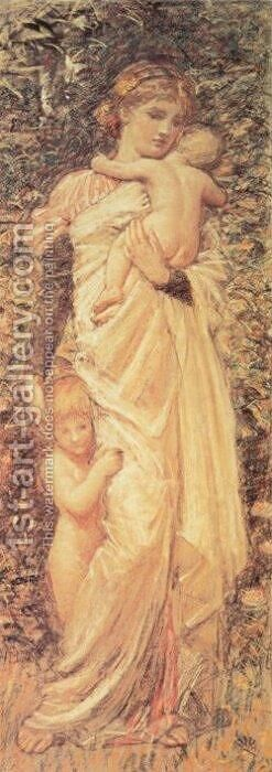 Caritas by Albert Joseph Moore - Reproduction Oil Painting