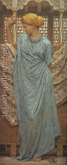 Forget-Me-Nots by Albert Joseph Moore - Reproduction Oil Painting