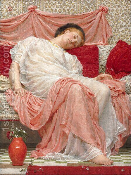 Jasmine by Albert Joseph Moore - Reproduction Oil Painting
