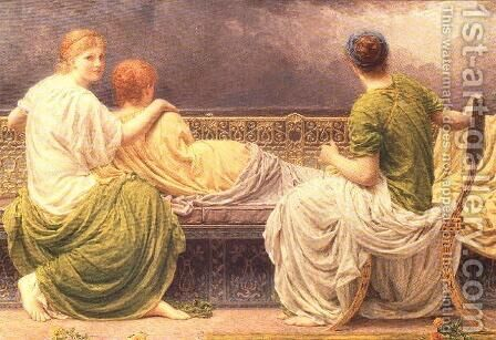 Lightning and Light by Albert Joseph Moore - Reproduction Oil Painting