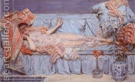 Lilies by Albert Joseph Moore - Reproduction Oil Painting