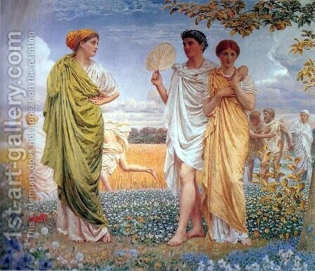 Loves of the Winds and the Seasons by Albert Joseph Moore - Reproduction Oil Painting