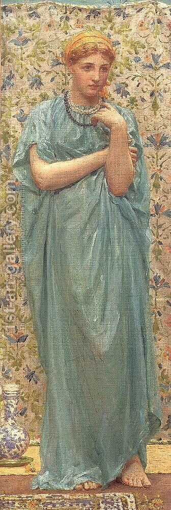 Marigolds by Albert Joseph Moore - Reproduction Oil Painting