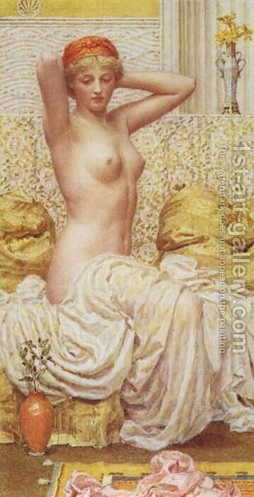 Myrtle by Albert Joseph Moore - Reproduction Oil Painting