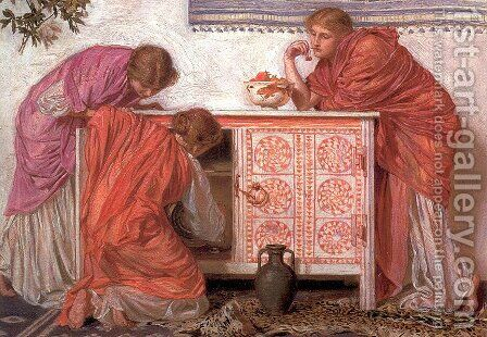 Pomegranates by Albert Joseph Moore - Reproduction Oil Painting